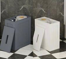 Vencier White/Grey  Shaker Slimline Wooden Multi-purpose Bathroom Storage Unit