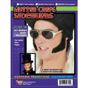Sideburns/Mutton Chops 100% Human Hair Period Character Theatrical Hair Piece