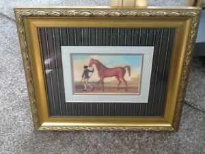 """BN Race Horse Picture 76001 by R Roper Beautiful Never Hung Up 14x12"""""""