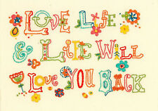 Embroidery Kit ~ Dimensions Love Life Inspirational Saying #71-06244 OOP SALE!