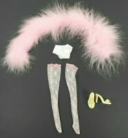 """Tonner Tyler Size 16"""" Doll Pink Feather Boa Lace Stockings Shoes Panties"""