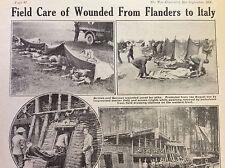 a1l ephemera 1917 ww1 picture british field ambulance station italy
