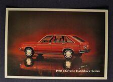1980 Chevrolet Chevette Hatchback Sedan Postcard Brochure Excellent Original 80