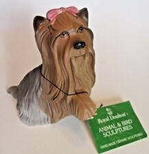 Royal Doulton Yorkshire Terrier Yorkie Vintage Ceramic Dog Figurine 5 in Matte