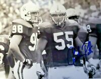 NEBRASKA FOOTBALL CHRISTIAN PETER #55 SIGNED AUTOGRAPHED PHOTO GRANT WISTROM WOW
