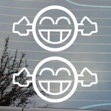 "2 X BRAND NEW 5"" TOO LOUD FACE EXHAUST FUNNY NOVELTY JDM EURO LOGO STICKER DECAL"