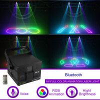 1W DMX ILDA RGB  Bluetooth Animation Laser DJ Party Professional Stage Lighting