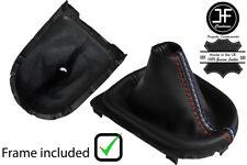 Manual De Punto De Cuero Negro Polaina gear Marco De Plástico Para Ford Mustang 15-19 Tri