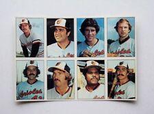 1975 SSPC Baltimore Orioles uncut Sheet Palmer Grich - HUGE FLASH SALE