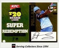 2012-13 T20 Big Bash League Cricket Star Signature Card SSS4 Kieron Pollard