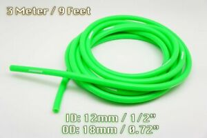 3 METRE GREEN SILICONE VACUUM HOSE AIR ENGINE BAY DRESS UP 12MM FIT SUPERCAR