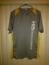 Sport Tek athletic Gray Yellow T Shirt Large Hi5 Challenge