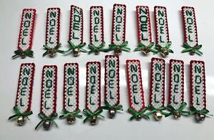 Lot Of 17 Plastic Canvas NOEL Pins & Magnets NEW