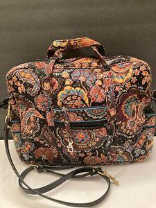 "Vera bradley Laptop Bag floral Brown 14""×11"""