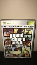 Grand Theft Auto: San Andreas (Second Edition) (Microsoft Xbox, 2005) TESTED!