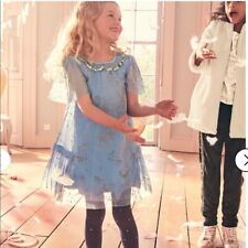 NEW Mini Boden Harry Potter Patronum Girl Dress Size 7-8y Blue Gold Tulle