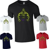 Hulk T-Shirt,The Incredible Hulk Avengers Superhero Marvel Comics Adult kids Top