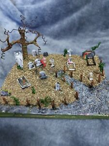 Miniture graveyard, diorama,  Model,