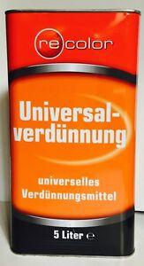 3,10-2,50€L  Universal Verdünnung 5l Nitroverdünnung Universalverdünnung Recolor