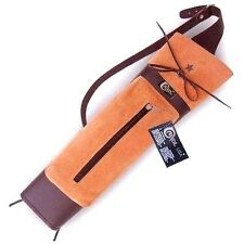 CAROL TRADITIONAL LEATHER BACK ARROW QUIVER AQ131 BROWN