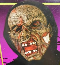 Fearsome Face Rotting Flesh Zombie Hooded Horror Mask Halloween Haunt Prop #7202