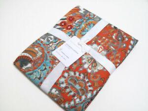 Pottery Barn Warm Colors Paloma Paisley Printed Organic Cotton Shower Curtain