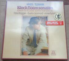Bruggen/Leonhardt/Bylsma HANDEL/TELEMANN Recorder Sonatas - Telefunken SEALED