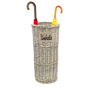 Rattan Umbrella Rack Stand Wicker Basket Holder Bin Brolly Storage Walking Stick