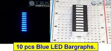 10x BLUE LED BARGRAPH 10-Segs Black Face (for Arduino LED VU Audio Meter) - USA