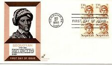 US FDC #1859 Sequoyah Block, Spectrum (7178)