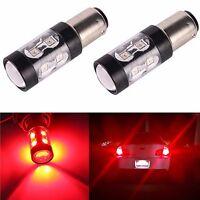 JDM ASTAR 2x50W CREE 1157 BAY15D Super Red Turn Signal Brake Tail LED Light Bulb