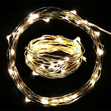 2x 3M Warm White 30LED Copper Wire LED String Fairy Lights Lamp for Decoration