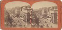 Porta San Martin Parigi Francia Foto Stereo Stereoview Vintage Albumina Ca 1870