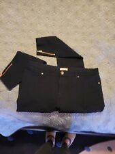 Ted Baker London Fioni Navy Stretch Cigarette Pants Ankle Zip 5/12