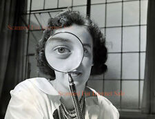 Vintage Masters and Johnson Sex Researchers Bizarre Eye Exam Photo Modernist