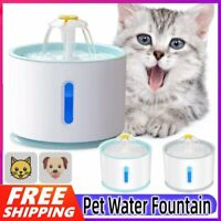 2.4L USB LED Automatic Electric Pet Water Fountain Cat/Dog Drinking Dispenser AU
