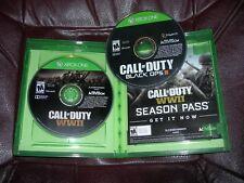** GAMES LOT - CALL OF DUTY WWII, BLACK OPS III  (Microsoft Xbox One 2015, 2017)