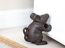 Cast Iron Metal Cute Mighty Mouse Rustic Heavy Door Stop Prop Stopper Holder