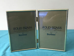 Solid Brass Folding Photo Frame By Bowon Hand Polished Lacquer Coated