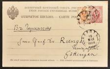 RUSSIA Estonia 1889 int PSC Card TARTU > famous Mathematician Prof Runge/Germany