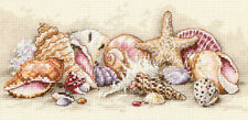 Gold Petite Seashell Treasures Counted Cross Stitch Kit-8
