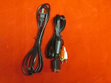 PS3 PlayStation 3 AV Cable And Power Cable For PS3 Slim And Super Slim And 8222