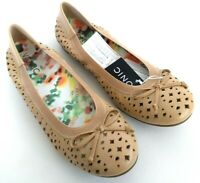 Vionic Perforated Spark Surin Women's Size 7.5 Nude Casual Ballet Flat Shoes