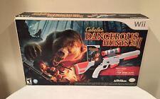 cabela's dangerous hunts 2011 mit top shot elite! (nintendo wii) spiel neu!