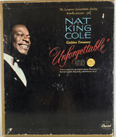 NAT KING COLE - GOLDEN TREASURY UNFORGETTABLE CAPITOL 4-BOX SET 8-TRACK TAPES