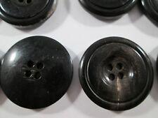 Knopf Knöpfe  14 stück  schwarz meliert    25 mm groß    #2895#