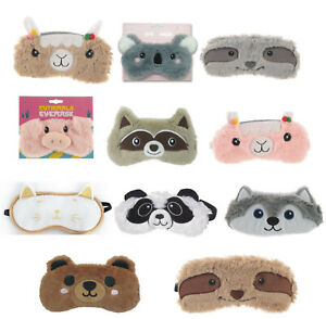 Ladies Girls Eye Mask Panda Sloth Travel Beauty Sleep Sleeping Masks