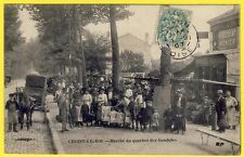 cpa CHOISY le ROI (Val de Marne) MARCHÉ du QUARTIER des GONDOLES Épicerie Animée