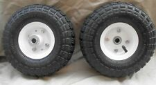"2 - 10"" Tire Air Pneumatic Steel Rim Hand Truck Dolly, Wagon Wheel inch"