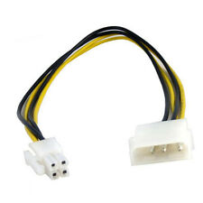 "10"" Inch 25cm Molex to 4pin ATX Female PC Power Cable Cord Adapter"